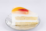 fruits cake on white isolated background
