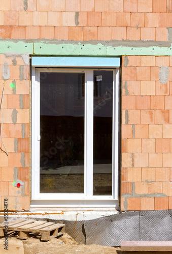 Terrassentür in einem Neubau