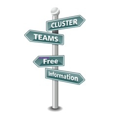 CLUSTER TEAMS icon as signpost - NEW TOP TREND