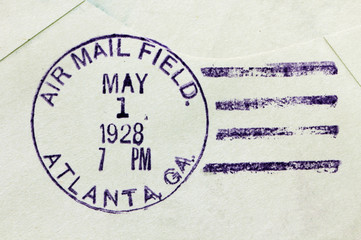 US Air Mail Postmark