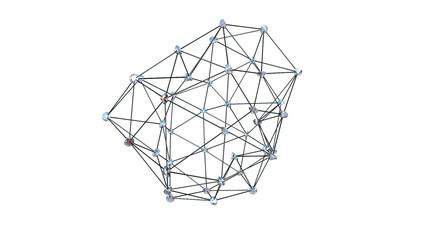 Diamonds Atom Shape, against white