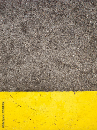 Cement and Yellow Paint
