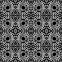 Lacy black-and-white seamless pattern