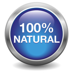 100% natural button