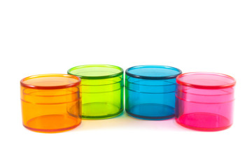 plastic containers isolated on white background