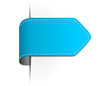 Pfeil Sticker leer blau