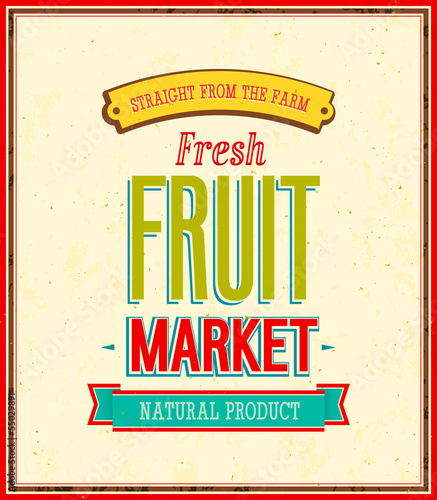Fruit market design.
