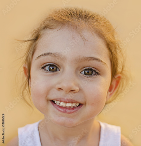 Smiling cute child portrait.