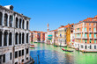 Canal Grande in Venice, Italy as seen from Rialto Bridge