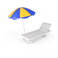 Summer Background Chair and Umbrella