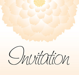 Invitation - flower
