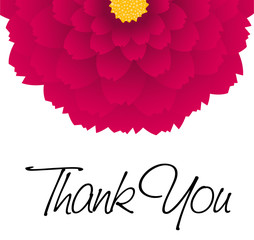Thank you - colored flower