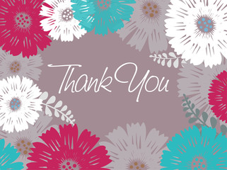 Thank you - colored flowers
