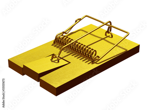 Phishing, mousetrap in gold