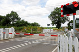Rural Level Crossing with Barriers Closed