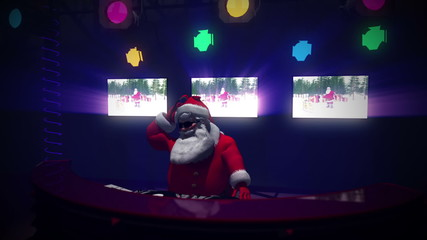 Santa DJ. Seamless loop.