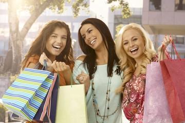 Women after a big sale
