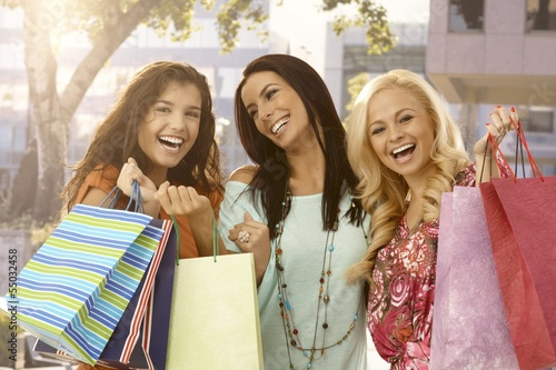 Women after a big sale