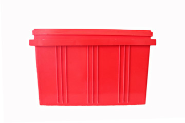 Red Plastic box Packaging of finished goods.