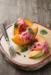 Melone mit Schinken