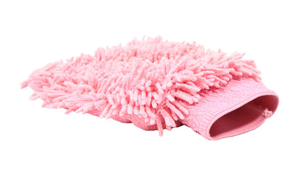 Pink cleaning microfiber glove