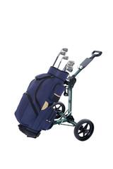 Golfbag auf Trolley
