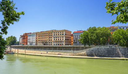 view of embankment in Rome. Italy.