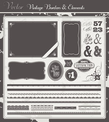 Vintage Vector Borders and Elements