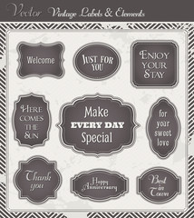 Vintage Vector Labels and Elements