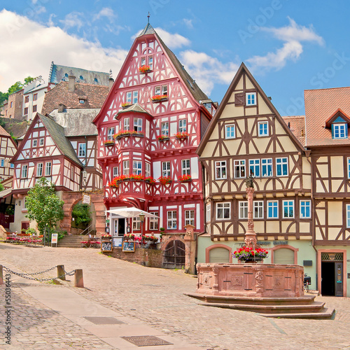 Am Marktplatz in Miltenberg im Maintal