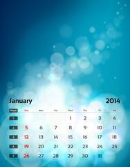 Calendar A4 - 01 January