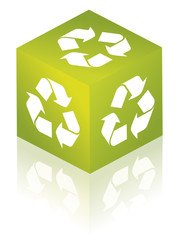 GREEN Recycle glossy icon