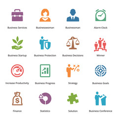Business Icons Set 1 - Colored Series