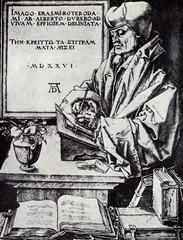 Portrait of Desiderius Erasmus by Albrecht Dürer, 1526,
