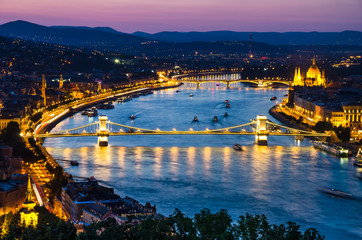 Szechenyi Chain or Lanchid bridge, Budapest