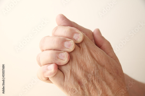 man has a sore hand