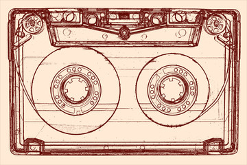 Audio cassette - illustration