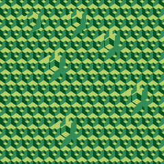 The green geometric shapes background