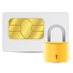 Sim card with golden lock