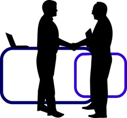 Business background with business people shaking hands