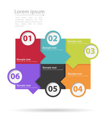 infographics tabs with number steps