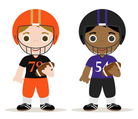 set of two football players children