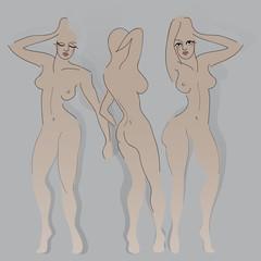 Fashion sketches / Woman bodies to next customize