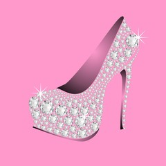 pink HIGH HEELS DIAMONDS
