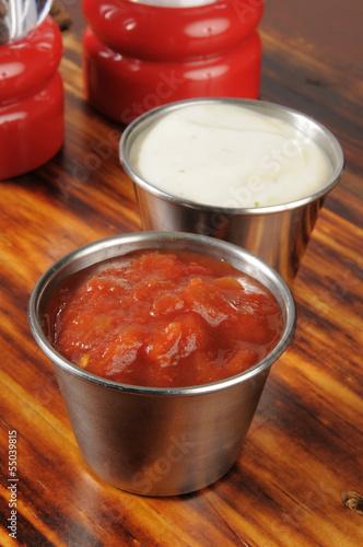 Salsa and ranch dips