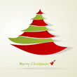 Christmas tree and Marry Christmas abstract vector card