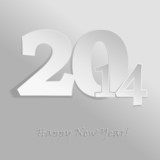 2014 abstract papercut vector background poster