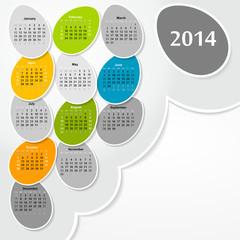 2014 new year vector calendar
