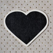 heart-shaped blackboard