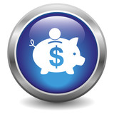 Dollar piggy bank icon